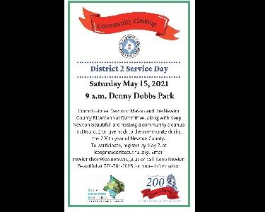 Image of District 2 Community Cleanup flyer