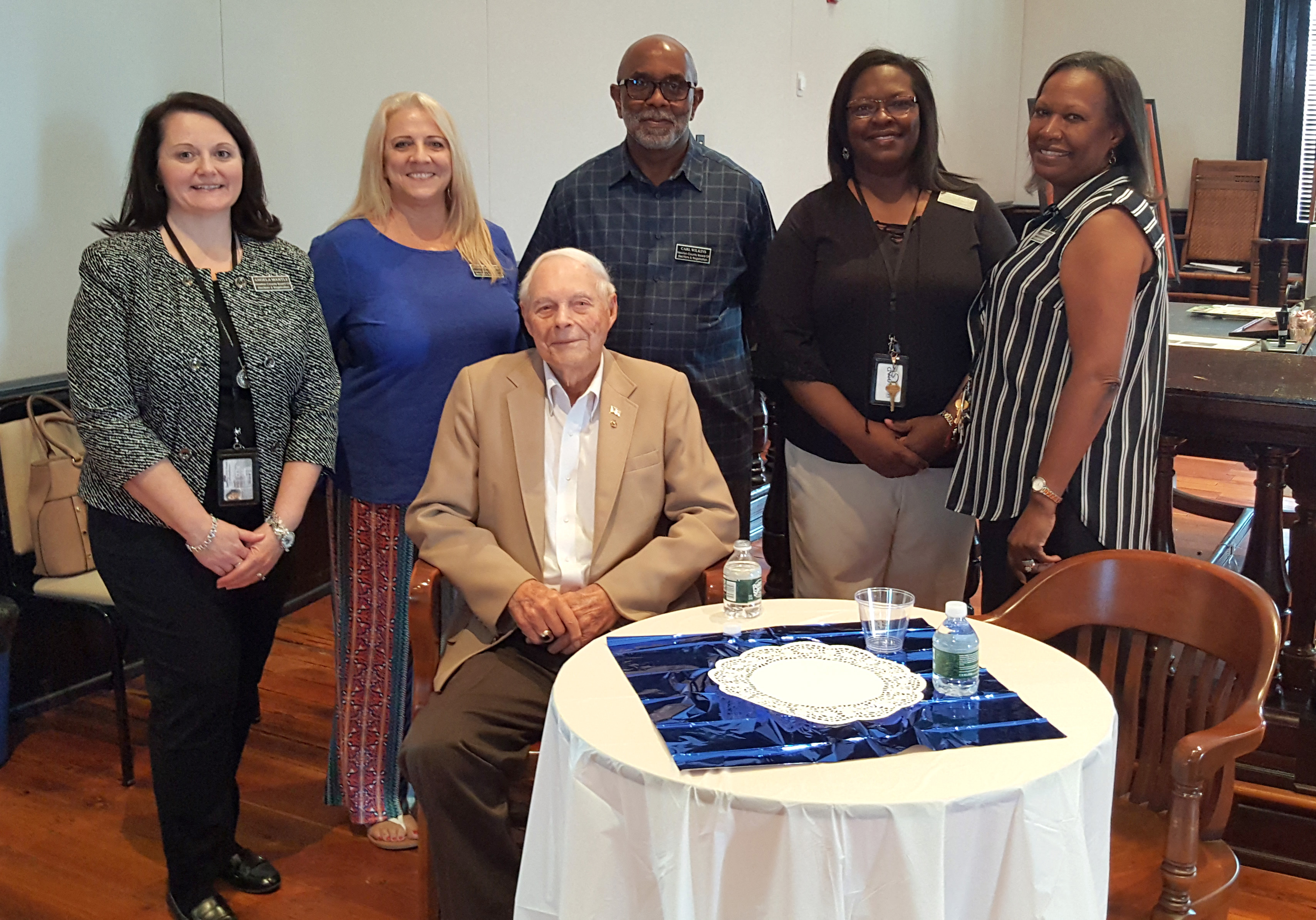 Image of Hugh Steele and Newton County Elections Staff